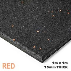 ArmorTech Commercial Gym Flooring Red Fleck 1x1m x 15mm