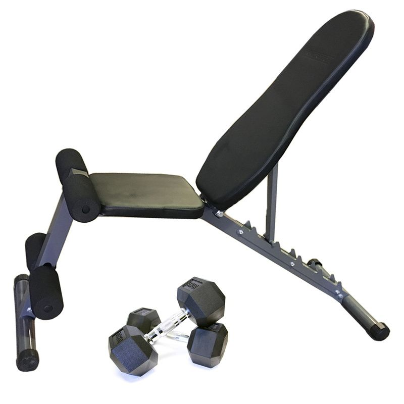 Armortech FID Bench and Hex Dumbbells Package