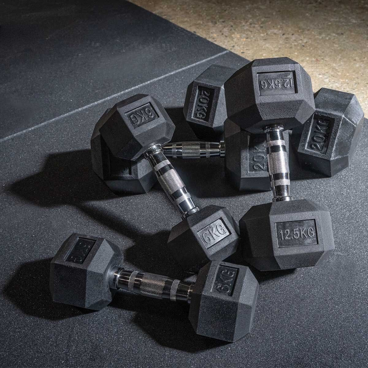 Hex Dumbbells (Sold Individually)  1KG - 10KG