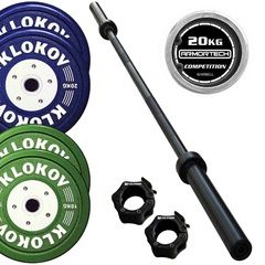 "Klokov Equipment ""Mens Premium"" Bumper Plate Set 80kg"