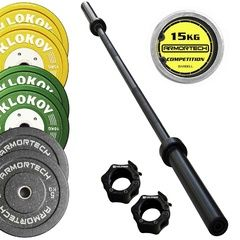 "Klokov Equipment ""Womens Premium"" Bumper Plate Set 75kg"
