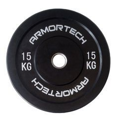 Armortech V2 Black Bumper 15kg - Single Plate