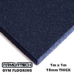 Black Commercial Rubber Flooring - 2 Pack