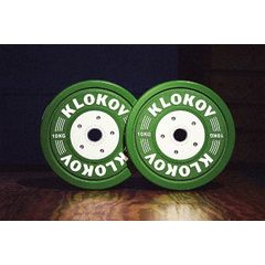 Klokov Equipment Bumper Plate Single 10kg WWA
