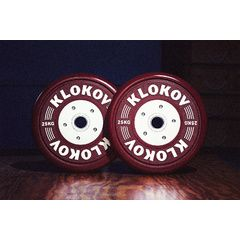 Klokov Equipment Bumper Plate Single  25KG (Sold Individually)